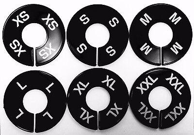 Clothing Black Size Dividers White Print Xs-xxl 2 Pcs Per Size 12 Pcs Total