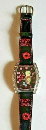Betty Boop wrist watch Pudgy red pink lips square face faux diamond KFS/FS China
