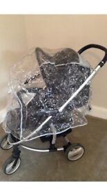 Hauck pushchair with rain cover