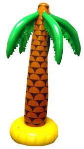 1 x 6ft INFLATABLE PALM Tree Hawaiian Luau Beach Party Tropical Blow Up