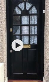 Front door with mortice & top lock & 2 sets of keys