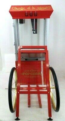 Great Northern Red All-star Popcorn Popper Machine Cart 8 Oz Model Gnp-800