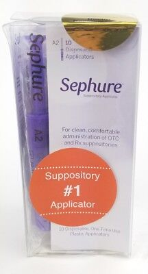 Sephure Disposable Suppository Applicators - One Time Use - 10 Count