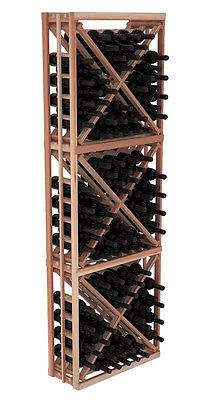 Diamond Bin Wine Cellar Rack Kit in Premium Redwood. Hand Crafted in the USA.