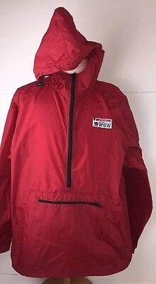 Walt Disney World WDW Red Hooded 1/4 Zip Windbreaker Rain Jacket Size XXL
