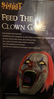 Light-Up Feed the Clown Game Spirit Halloween Animated Prop Life Size Carnival