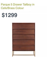 FREEDOM FURNITURE PARQUE 5 DRAW TALLBOY Chester Hill Bankstown Area Preview