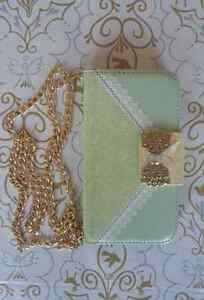 Samsung Galaxy S3 Elegant Wallet Case with Gold Chain