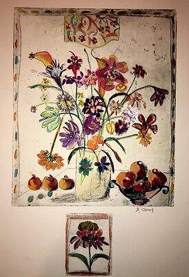 Hand Colored Floral Art - Floral-Art-Prints Bracha Guy
