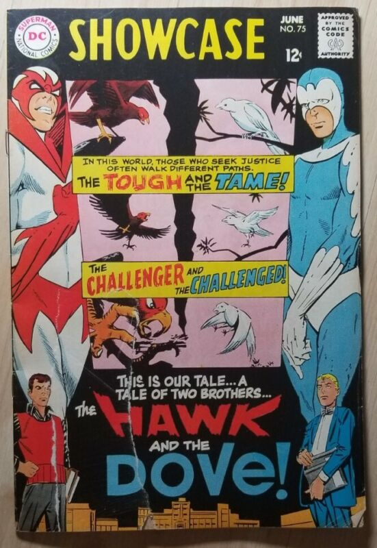 SHOWCASE #75 1st Appearance HAWK & DOVE Steve Ditko DC Comics