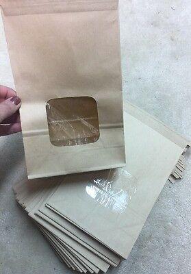 25 New Bakery Bags W Window 1 12 Lb Kraft Coffee Cookie Dog Treats Brownie