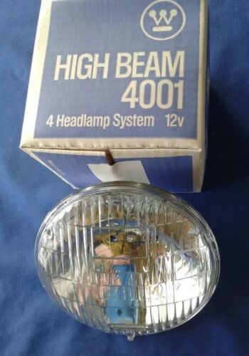 NOS Westinghouse Safe-T-Beam Headlight 4001, 12V High Beam