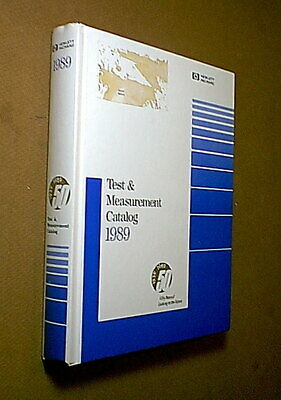 Large Vintage 1989 Hp Hewlett Packard Test Equipment Computer Catalog