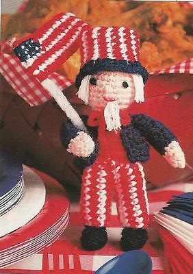 Crochet Pattern ~ UNCLE SAM DOLL 4th of July Kids Stuffed Toy ~ Instructions