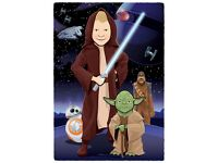 Personalised portraits - Illustration - Cartoon - Star Wars - Rogue One