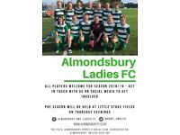 Almondsbury ladies football bristol looking for players ,south Gloucestershire
