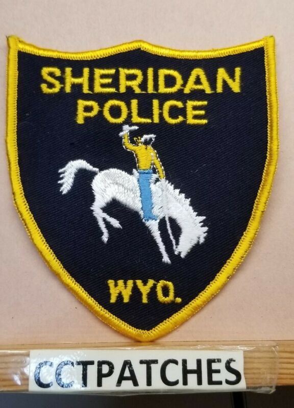 SHERIDAN, WYOMING POLICE SHOULDER PATCH WY