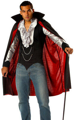 Mens Cool Vampire Fancy Dress Costume Deluxe Vampire Vamp Halloween Costume