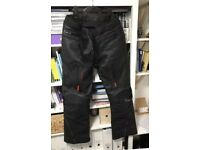 Men's Triumph Leather H2 Waterproof Motorcycle Trousers