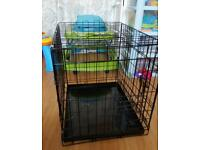 Small dog cage with cover