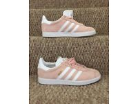 Trainers, Adidas Gazelle Women's Vapour Pink/White Size 6 (uk)