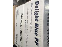 Blue vinyl gloves box of 1000 gloves small