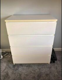 IKEA MALM 4 Drawer Chest of Drawers