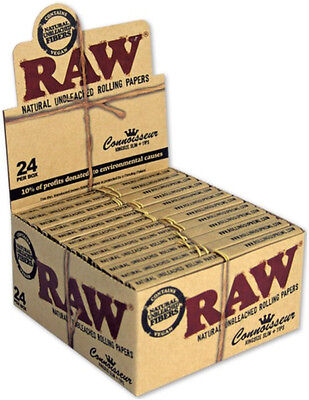 1 Box RAW Papers Connoisseur King Size Slim Classic mit Tips Großpackung papes