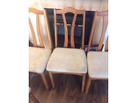 BARGAIN 6 dining chairs for £50