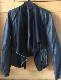 New Look faux leather waterfall jacket size 12