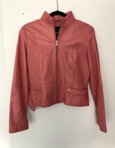 Kenneth Cole Salmon/Pink Leather jacket