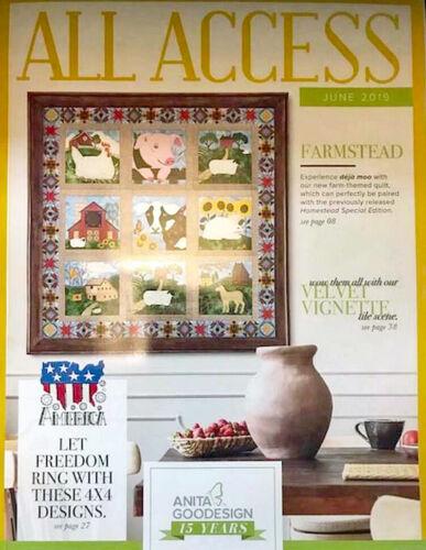 All Access VIP JUNE 2019 Anita Goodesign Machine Embroidery Designs CD