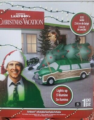 Gemmy 8ft Christmas Vacation Station Wagon with Tree Christmas Inflatable