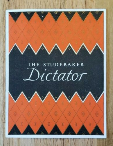 1929 Studebaker Dictator Sales Folder