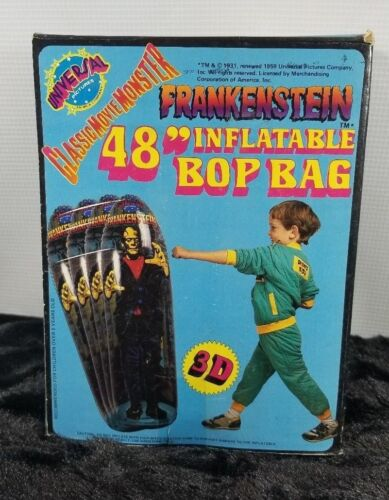 "1985 VINTAGE CLASSIC MOVIE MONSTER 48"" INFLATABLE FRANKENSTEIN BOP BAG 2A2"