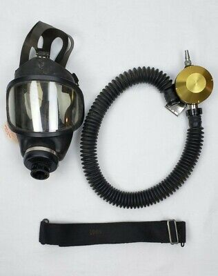 Msa Supplied Air Respirator Face Mask Assembly New Old Stock Gas Mask