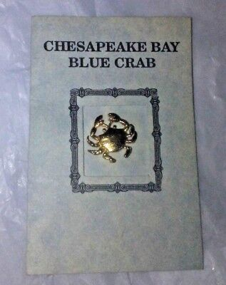 Vintage Chesapeake Bay Blue Crab Pin With booklet ()