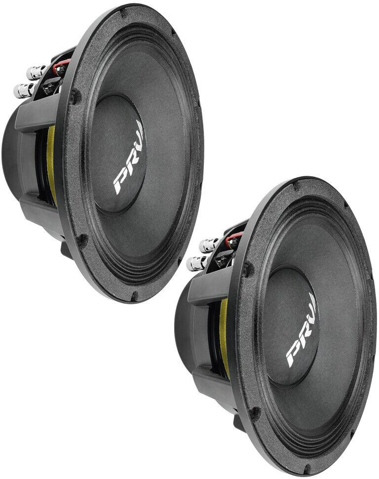 2 x PRV Audio 10MR1000X 10 Midrange Pro Audio Bass Speaker 2000W 8 Ohm