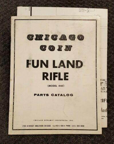 Chicago Coin Fun Land Rifle Parts Catalog & Schematics -- Original