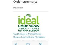 Ideal Home show London 7th, April 2for1