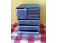 DRAW BOX STORAGE ( SLOT TOGETHER ) 6 DRAWERS - bargain for £ 5