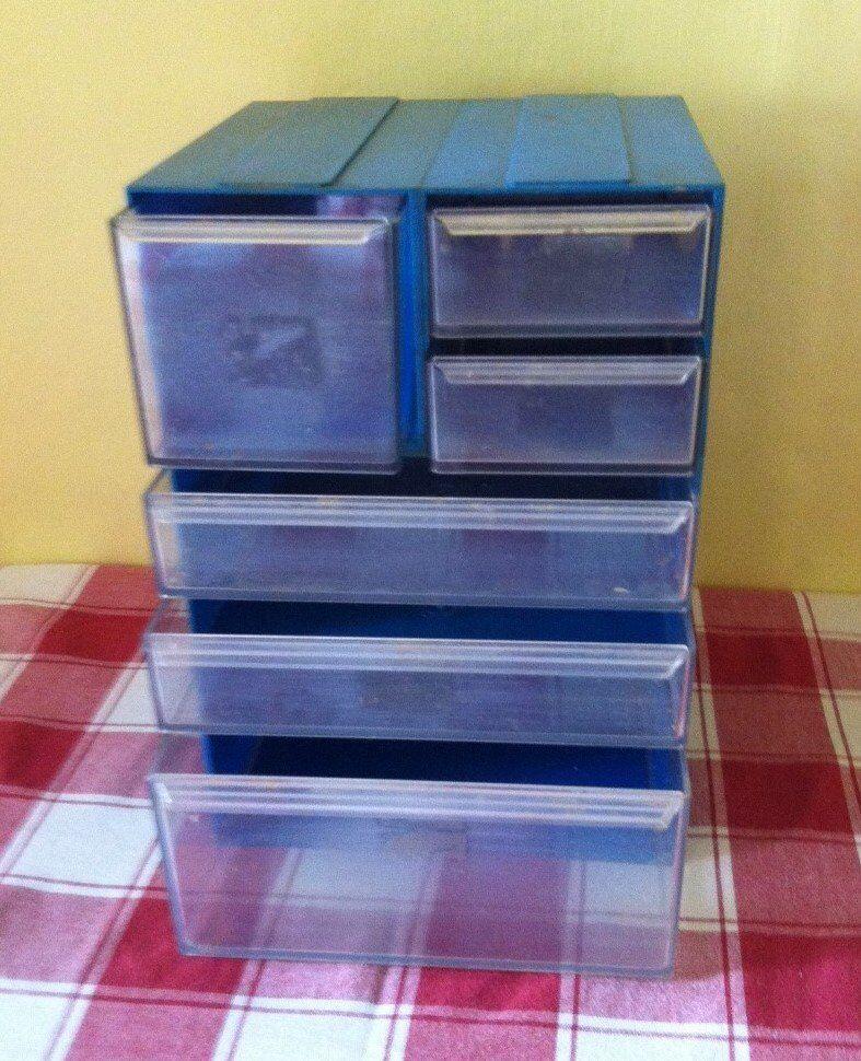 DRAW BOX STORAGE ( SLOT TOGETHER ) 6 DRAWERS