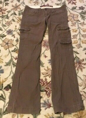 Hollister Women's low rise Cotton Spandex Cargo Pants, Juniors size 3