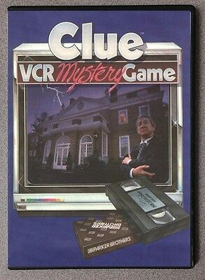 Clue VCR Mystery Game DVD Crime Mystery Game