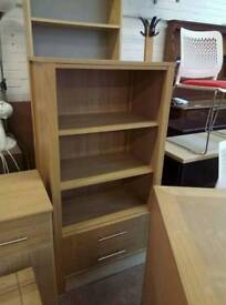 Oak effect shelving unit new condition