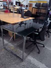Black Glass Topped Table