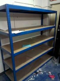Industrial racking, £95 per section