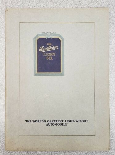 1918-19 Studebaker Light Six Car Sales Catalog
