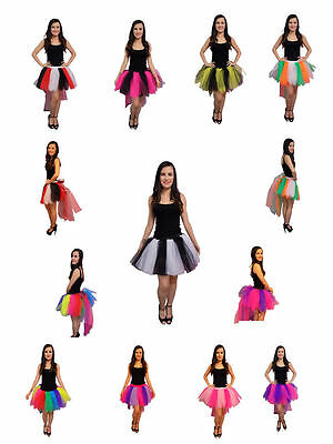 8 Layer Tutu Skirt with Bustle 80s Fancy Dress Costume Hen Party Halloween  - Bustle Skirt Kostüm