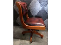 Stunning Chesterfield Captains Chair in Oxblood Leather - Others Available - Uk Delivery